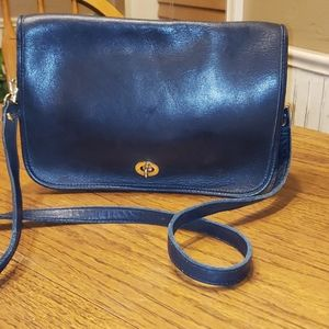 Hunt Club Navy Geunine leather small purse